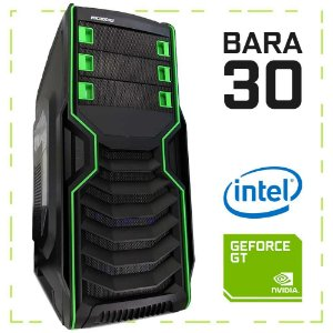 PC Gamer BARA 30 G4560 + GT 1030 8GB DDR4 1TB 400W 80 Plus Microdigi MD-515BG