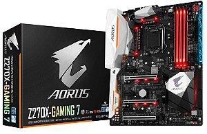 Placa Mae Lga 1151 Intel Gigabyte Ga-Z270X-Gaming 7 Aorus Atx DDR4 4133Mhz M.2 Sli