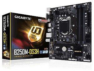 Placa Mae Lga 1151 Intel Gigabyte Ga-B250M-Ds3H Matx DDR4 2400Mhz M.2 Hdmi Usb 3.1