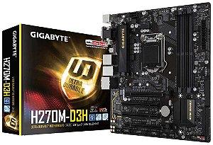 Placa Mae Lga 1151 Intel Gigabyte Ga-H270M-D3H Matx DDR4 2400Mhz M.2 Hdmi Usb 3.1