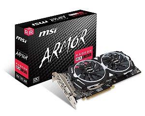Placa de Vídeo MSI Radeon Rx 580 4Gb Armor OC DDR5 256Bits - Radeon Rx 580 Armor 4Gb OC