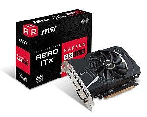 Placa de Vídeo MSI Radeon Rx 560 Aero Itx 4Gb OC DDR5 - Radeon Rx 560 Aero Itx 4Gb OC