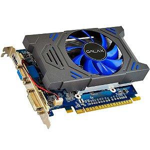 Placa de Vídeo Galax GeForce GT 730 2Gb DDR5 64Bit 5000Mhz 901Mhz 384 Cuda Cores Dvi Hdmi Vga