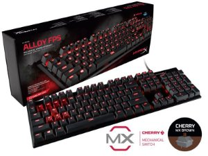Teclado Gamer Mecânico HyperX Alloy FPS Cherry MX BROWN HX-KB1BR1-NA/A4