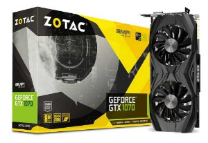 Placa de Vídeo Zotac Geforce GTX 1070 Amp Core Edition 8Gb DDR5 256 Bits  ZT-P10700N-10P