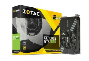 Placa de Vídeo Zotac GeForce GTX 1060 3Gb DDR5 192 Bit 8008Mhz 1506Mhz 1152 Cuda Cores Dp Hdmi Dvi