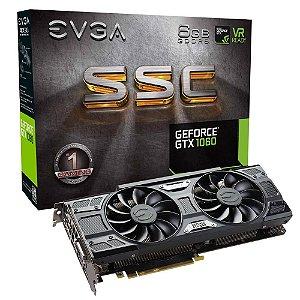Placa De Vídeo GTX 1060 6GB SSC ACX3.0 DDR5 Nvidia EVGA 06G-P4-6267-KRGB