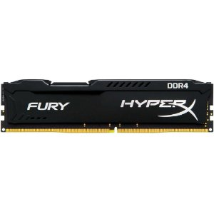 Memória 4GB DDR4 Kingston HyperX FURY  2400Mhz CL15 Black - HX424C15FB/4