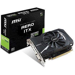 Placa de Vídeo MSI Geforce Aero ITX OC Edition GTX 1050 2gb GDDR5 128 Bits