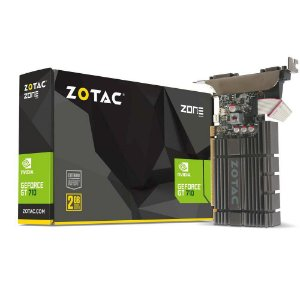 Placa de Vídeo Zotac Geforce GT 710 DDR5 2GB 64Bits ZT-71307-20L