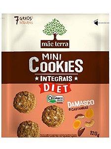 Mini Cookies Integrais Diet Damasco e Castanhas 120g - Orgânico