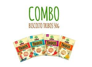 Combo com 3 Biscoitos Tribos 50g (Sortidos)