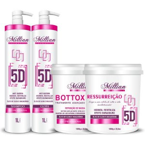 Combo Millian 5D Progressiva Com Botox 1kilo e Ressurreição 1kilo