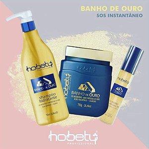 Kit Banho de Ouro 750gr - Shampoo, Mascara e Leave-in SOS