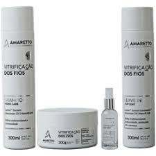 Kit Vitrificação Dos Fios Home Care 4 passos Amaretto