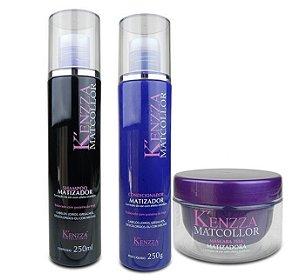 Kit Matcollor Kenzza Shampoo, Condicionador e Mascara