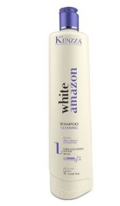 Shampoo Cleaning purificação mineral sem sal Argila White Amazon Kenzza 1 litro