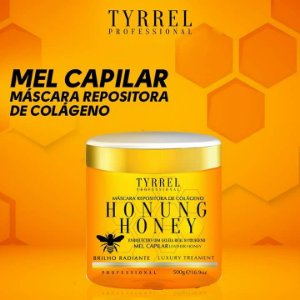 Mel capilar mel Tyrrel Honung Honey Máscara Repositora de Colágeno 500g