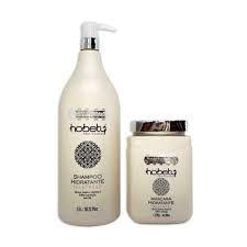 Kit Mascara e Shampoo Profissional Alta Hidratação Hobety 1,5 litros