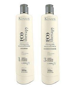 Kit Hidratação Macadamia Shampoo e Condicionador Kenzza