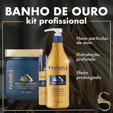 Kit Ouro Profissional Mascara 750gr Shampoo 750ml Finalizador 60ml