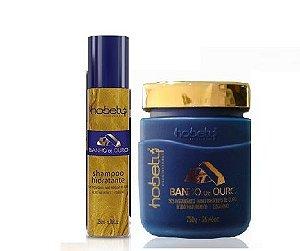 Kit Banho de Ouro máscara 750gr mais Shampoo 300ml