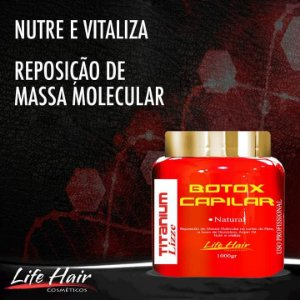 Botox Capilar Titanium Lizze Life Hair Sem Formol Natural 1Kg