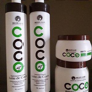 Kit Multi Hair Leite de Coco Progressiva mais botox 1kg GRATIS BTOX 500GR