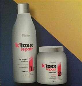 Kit Botox K´Toxx  Kenzza Mascara 1kg com matizador mais Shampoo Preparatório