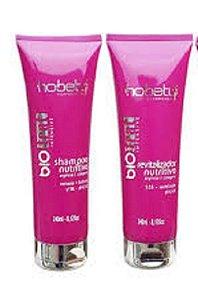 Kit Nutrição Shampoo e Revitalizador Colágeno e Arginina Full Trat Hobety