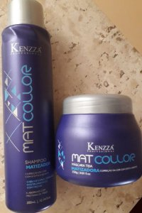 Kit Matizador Matcollor Kenzza  Tratamento Hidratação e Matização NOVA EMBALAGEM