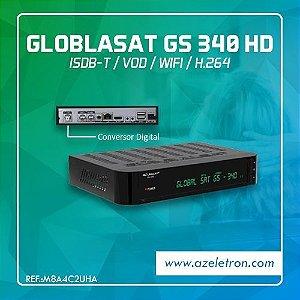 GLOBALSAT GS 340 HD WIFI VOD ISDB-T 2ANT. PRETO