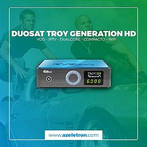 DUOSAT TROY HD GENERATION IKS SKS IPTV 2ANT AZUL