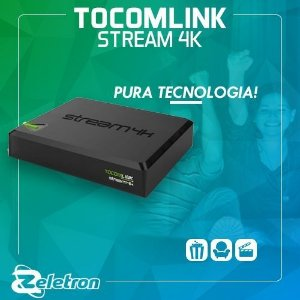 TOCOMLINK STREAM 4K ULTRA HD  H.265 QUAD-CORE PRETO