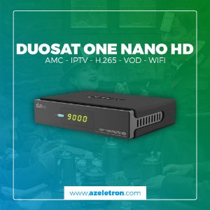 DUOSAT ONE NANO HD VOD IPTV H.265 HEVC ACM SKS WIFI 2ANT PRETO