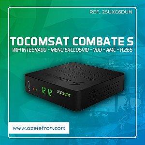 TOCOMSAT COMBATE S HD VOD H.265 ACM IPTV SKS IKS 2ANT PRETO