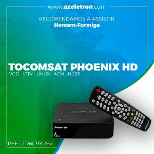 TOCOMSAT PHOENIX VIP HD ACM LINUX OS H.265 HEVC  SKS 2ANT PRETO