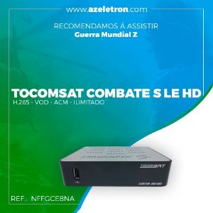 TOCOMSAT COMBATE S LE HD VOD H.265 DVOUT ACM IPTV  2ANT PRETO