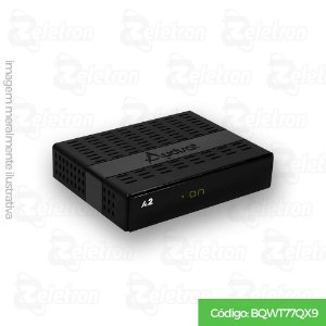 AUDISAT A2 HD PLUS WIFI ACM H.265 VOD IPTV 2ANT PRETO