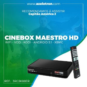 CINEBOX MAESTRO HD ANDROID WIFI INT. IKS SKS ONDEMAND 2ANT PRETO