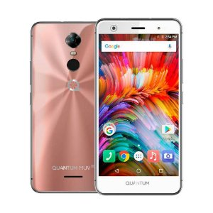 Smartphone QUANTUM MUV UP 32GB Rosa | Android 7.0 | Tela 5.5'' | 13MP | Leitor Biométrico
