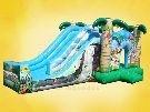 Tobogã Selva Mágica - 3 em 1 - TG - Tamanho 3,80m x 3,0m x 7,0m