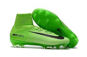 ... new arrival Chuteira Nike Mercurial Superfly V FG Verde Cano Alto Campo  5b645 b9524 ... c58361ad29a68