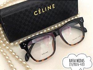 e152676fe1 Armação para Óculos de Grau Céline Preto com Tartaruga