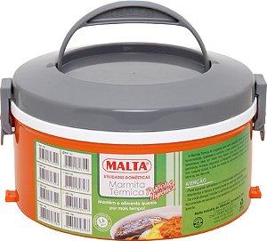 Marmita Térmica Malta 1 Prato Simples Alça Fixa
