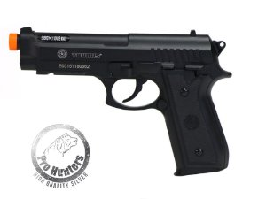 "PISTOLA AIRSOFT TAURUS PT92 ""NBB / SLIDE FIXO"" CO2  - FULL METAL - CYBERGUN 210307"