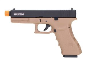 PISTOLA AIRSOFT - KJW - KJ WORKS - GLOCK KP17 TAN - GBB - CO2