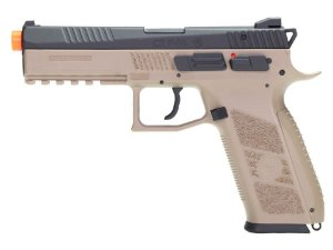 PISTOLA AIRSOFT - KJW - KJ WORKS - CZ P-09 TAN - GBB - CO2 FULL METAL