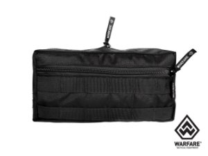 BOLSO HORIZONTAL WARFARE- COM 2 ZIPER - BLACK
