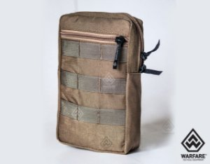 BOLSO VERTICAL WARFARE - COM 2 ZIPER - COYOTE